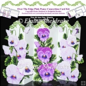 Over The Edge Pink Pansy Concertina Card Kit