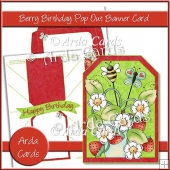 Berry Birthday Pop Out Banner Card