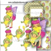 Fairy Siblings Decoupage Set