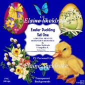 Easter Duckling - Set One - CU/PU Designer Resource