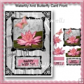 Waterlily And Butterfly Card Front