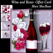 Wine and Roses - Offset Card