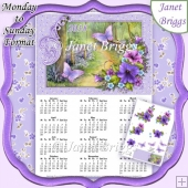 WOODLAND WALK 2018 A4 UK Calendar & Decoupage Monday to Sunday