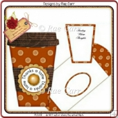 111 Latte Cup Card *HAND & MACHINE Formats*
