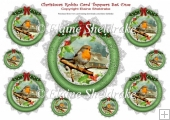 Christmas Robins - 9 x Card Toppers - Set One