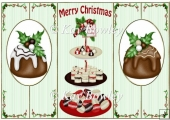 Yummy christmas cakes & cookies cut and fold quick card