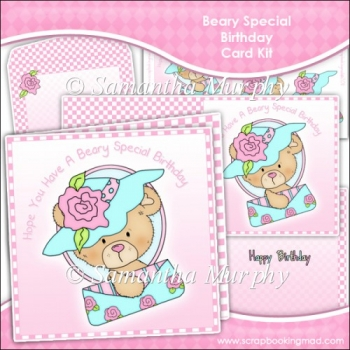 Beary Special Birthday Card Set