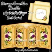 Orange Camillea Double Aperture Pop Out Card