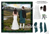 Scottish Wedding (3) - 7.5 x 7.5 Card Topper & Decoupage