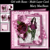 Girl with Roses - Multi-Layer Card