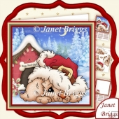 CHRISTMAS DOG HOUSE 8x8 Decoupage & Insert Mini Kit