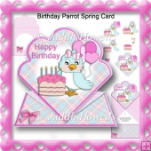 Birthday Parrot Spring Card