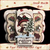 Snow Much Fun - Four Fold Pop-Out Card