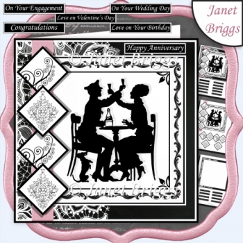 CELEBRATIONS SILHOUETTE 7.5 Quick Layers Card & Insert Kit