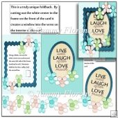 live laugh love single foldback card