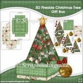 3D Fireside Christmas Tree Gift Box