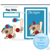 Sport Pet Birthday Topper/ Card Front
