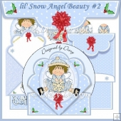 lil' Snow Angel Beauty Spring Card #2