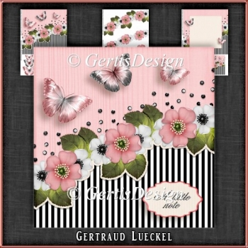 Vintage Stripes and Flowers Card Kit 1095