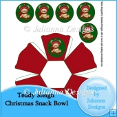 Teddy Sleigh Snack Bowl