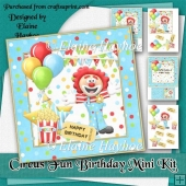 Circus Fun Birthday Card Kit