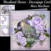 Woodland Haven - Decoupage Card