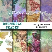 BUTTERFLY SHADES 8 x A4 printable digital sheets