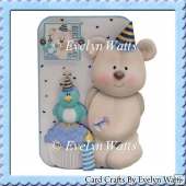 Make A Wish Birthday Bear Shaped Card Kit