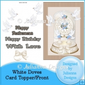 White Doves Card Topper