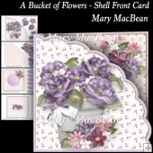 A Bucket of Flowers - Shell Front Card