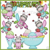 Sweet Stuff Fairy Hippos 2 Commercial Use Clip Art