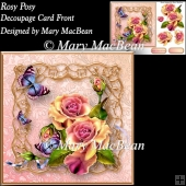 Rosy Posy Decoupage Card Front