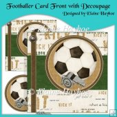 Footballer Card Front with Decoupage