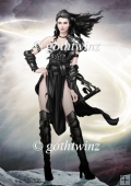 Gina Warrior Princess (black) A4