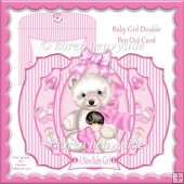Baby Girl Double Pop Out Card