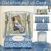 Gatefold pop up Card Vintage Woman