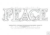 Peace - A5 Alpha bears Digi Stamp