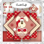 Triangle pop up card set 25 Christmas