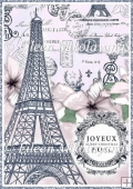 Joyeux Noel Paris Christmas Backing Background Paper