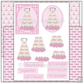 Pink Wedding Cake Decoupage