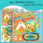 Age 7 Birthday Cardfront with Decoupage