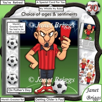 Football Foul All Occasions Humorous 7.5 Decoupage Kit