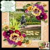 Rosemoor An Enchanted Garden 8x8 Floral Decoupage Card Sheet