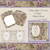 Vintage Style 6x6 Oval Front Card
