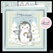 Cute Penguin Christmas Topper Mini Kit