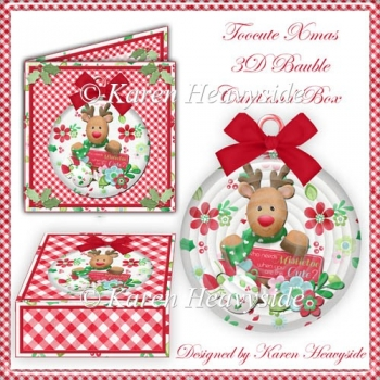 Toocute Xmas 3D Bauble Card And Box