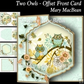 Two Owls - Offset Front Card