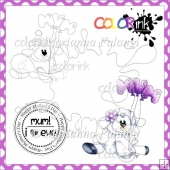 Love EWE Mum and Sentiment Digital Stamps