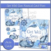 Get Well Soon Nautical Card Front