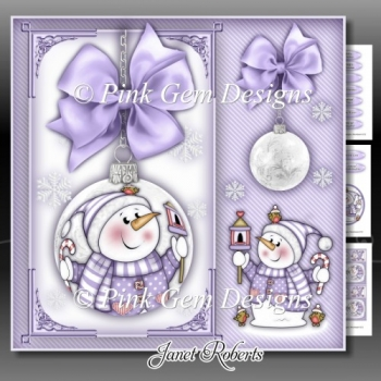 Chilly With Bird House Bauble Lilac Mini Kit